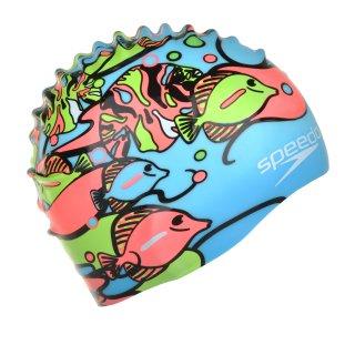 Шапочка для плавания Speedo Junior Slogan Cap - фото 2