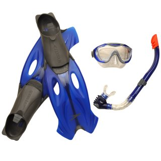 Аксессуары для плавания Speedo Glide Mask, Snorkel & Fin Set - фото 1
