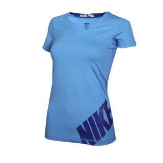 Футболка Nike Pro Logo Ss Top - фото 1