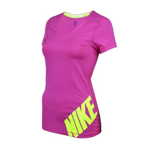 Футболка Nike Pro Logo Ss Top - фото
