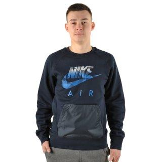 Кофта Nike Aw77 Flc Crew-Hybrid - фото 4