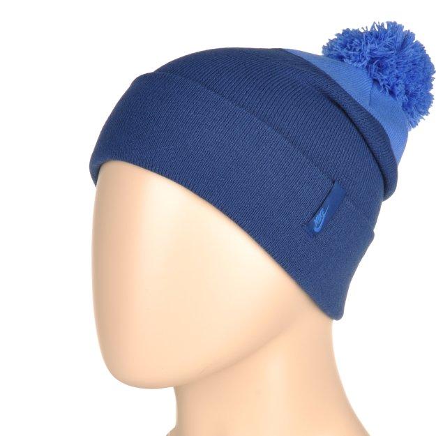 Шапка Nike Pom Beanie - Blue - фото