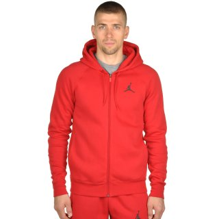 Кофта Nike Men's Jordan Flight Fleece Full-Zip Hoodie - фото 1