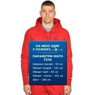 Кофта Nike Men's Jordan Flight Fleece Full-Zip Hoodie - фото 7