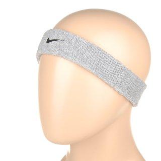 Аксессуары для тренировок Nike Swoosh Headband Grey Heather/Black - фото 1