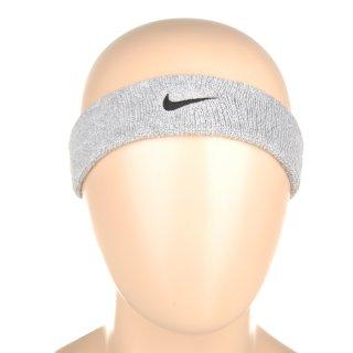 Аксессуары для тренировок Nike Swoosh Headband Grey Heather/Black - фото 3