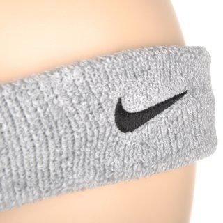 Аксессуары для тренировок Nike Swoosh Headband Grey Heather/Black - фото 4