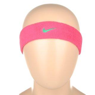 Аксессуары для тренировок Nike Swoosh Headband Pink Pow/Emerald Glow - фото 3