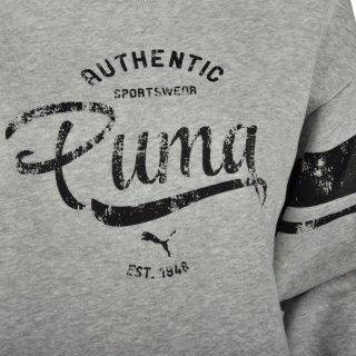 Кофта Puma STYLE ATHL Crew Sweat FL - фото 3