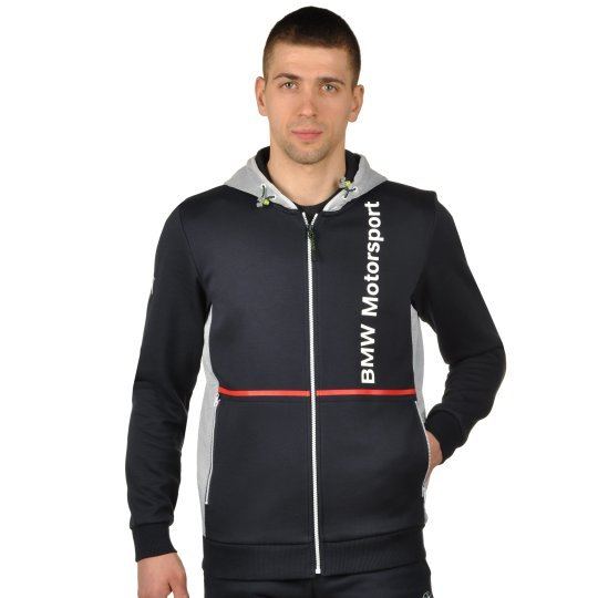 Кофта Puma Bmw Msp Hooded Sweat Jacket - фото