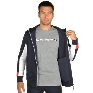 Кофта Puma BMW Msp Hooded Sweat Jacket - фото 5