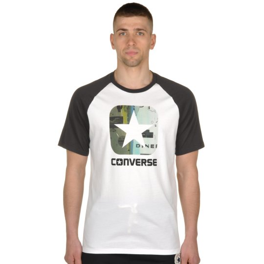 Футболка Converse Icon Pattern Fill Classic Fit Ss Raglan - фото