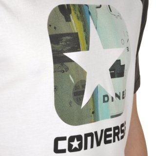 Футболка Converse Icon Pattern Fill Classic Fit Ss Raglan - фото 5