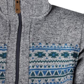 Кофта East Peak mens knitted fulzip w/print - фото 3