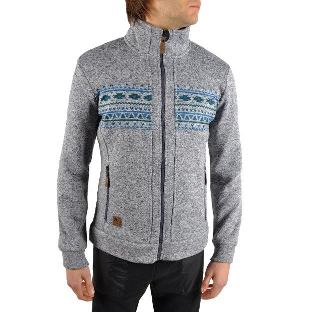 Кофта East Peak mens knitted fulzip w/print - фото