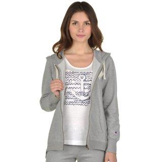 Кофта Champion Hooded Full Zip Sweatshirt - фото 5