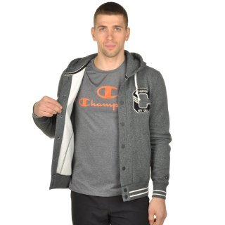 Кофта Champion Full Buttoned Hooded Sweatshirt - фото 6