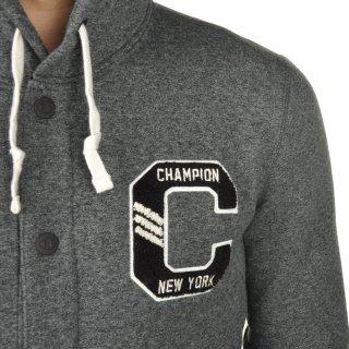 Кофта Champion Full Buttoned Hooded Sweatshirt - фото 8