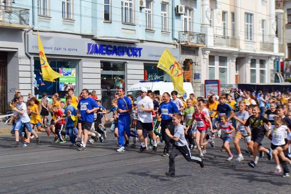 """В Виннице состоялся забег """"Пробіг з вірою в сердці"""", в поддержку детишек с болезнями сердца."""