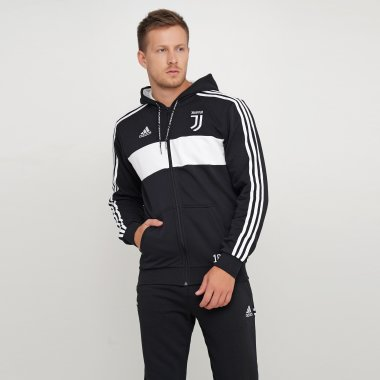 Кофты adidas Juve Fz Hd - 118412, фото 1 - интернет-магазин MEGASPORT