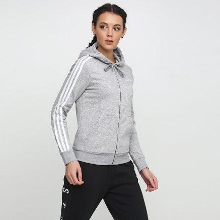 Кофта Adidas W E 3s Fz Hd Fl - 118862, фото 1 - інтернет-магазин MEGASPORT