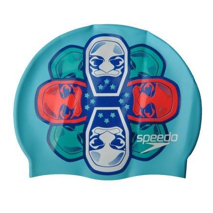 Шапочка для плавання Speedo Junior Slogan Cap - 101532, фото 1 - інтернет-магазин MEGASPORT