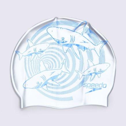 Шапочка для плавання Speedo Junior Slogan Cap - 113892, фото 1 - інтернет-магазин MEGASPORT