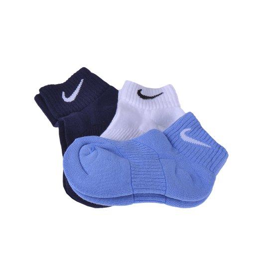 Шкарпетки Nike 3p Yth Ctn Cush Qtr W/ Moist M - фото