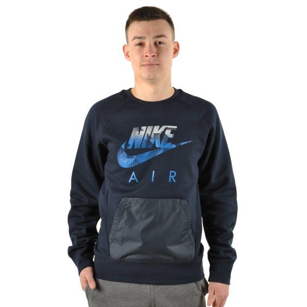 Кофта Nike Aw77 Flc Crew-Hybrid - MEGASPORT