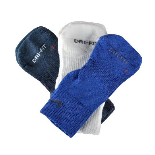 Шкарпетки Nike 3ppk Dri-Fit Cushion Quarter - фото