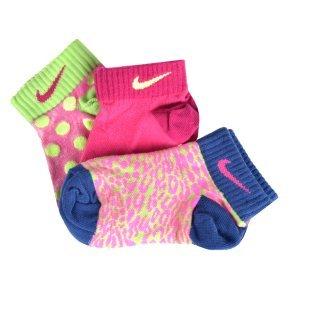Шкарпетки Nike 3p Girl's Graphic Ltw Ctn Low - фото 1