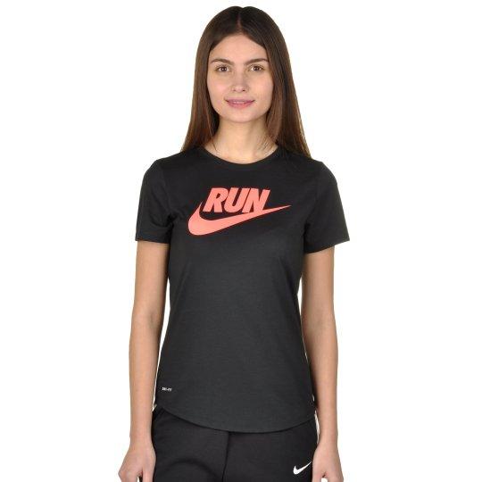 Футболка Nike Run P W Run Swoosh Brnd Rd Tee - фото