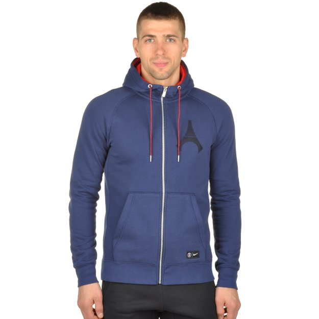 Кофта Nike Men's Paris Saint-Germain Authentic Full-Zip Hoodie - 94943, фото 1 - інтернет-магазин MEGASPORT