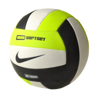 М'яч Nike 1000 Softset Outdoor Volleyball Inflated With Box Volt/White/Black - фото 1