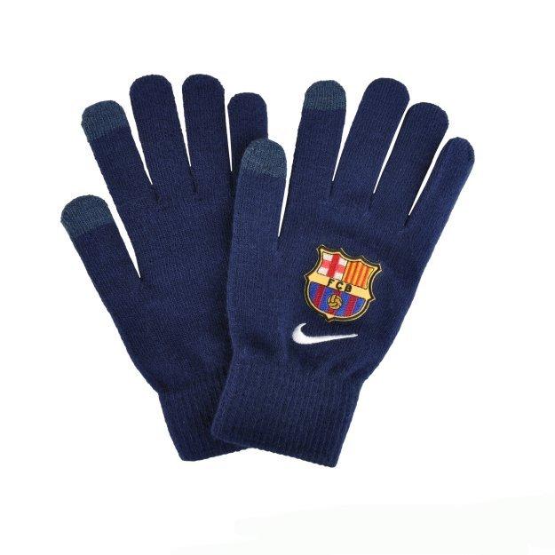 Перчатки Nike Fcb Supporter Knitted Tech Gloves S/M Loyal Blue/White - MEGASPORT
