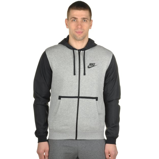 Кофта Nike M Nsw Hoodie Fz Flc Hybrid - MEGASPORT