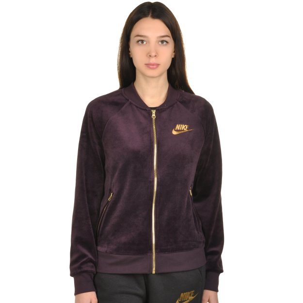 Кофта Nike W Nsw Jkt Velour - 107765, фото 1 - інтернет-магазин MEGASPORT