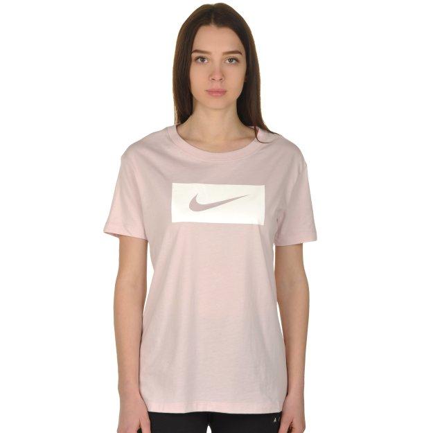 Футболка Nike W Nsw Tee Drop Tail Swsh Pk - MEGASPORT