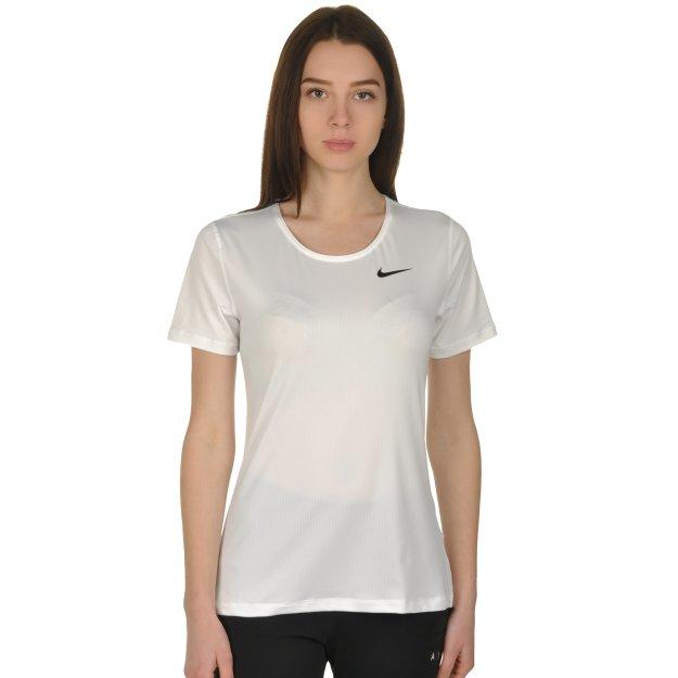 Футболка Nike W Np Top Ss All Over Mesh - 108602, фото 1 - інтернет-магазин MEGASPORT