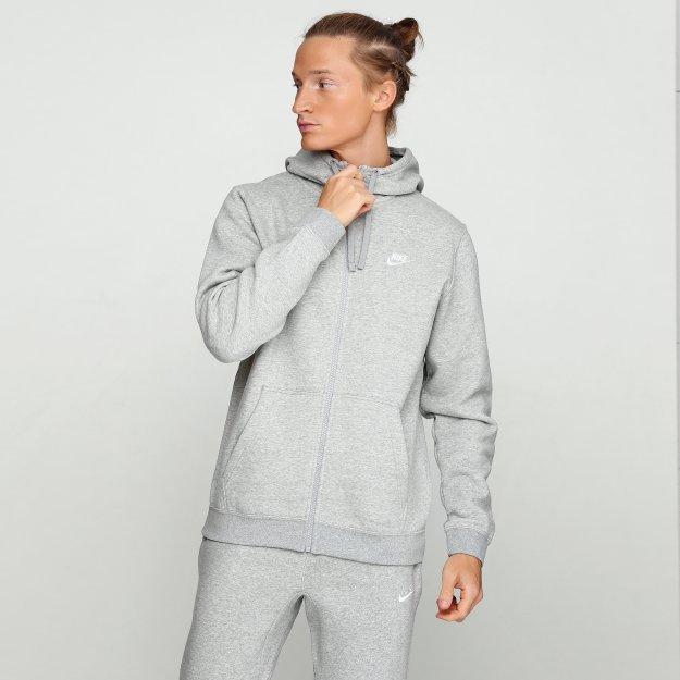 Кофта Nike M Nsw Club Hoodie Fz Bb - 112810, фото 1 - интернет-магазин MEGASPORT