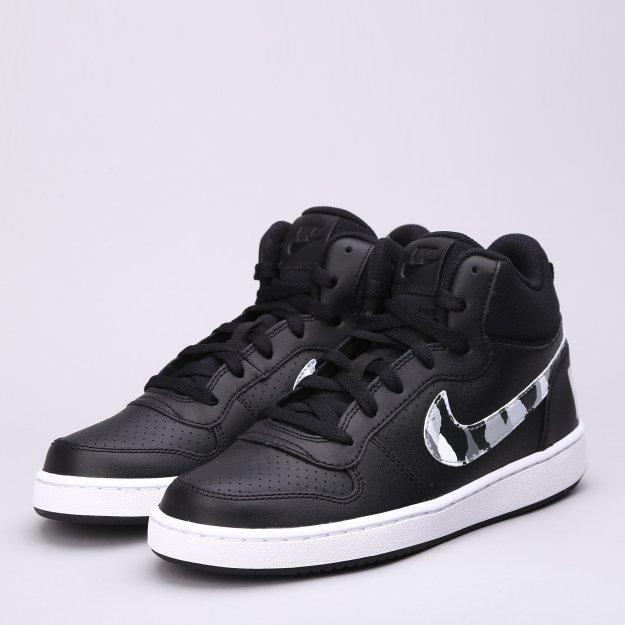 Кеды Nike Boys' Court Borough Mid (Gs) Shoe - MEGASPORT