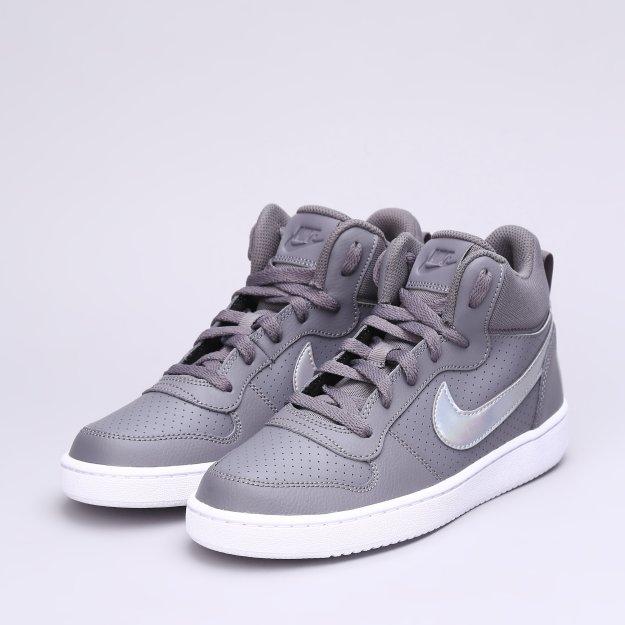 Кеди Nike Girls' Court Borough Mid (Gs) Shoe - MEGASPORT