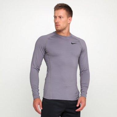 Компрессионные футболки nike M Np Thrma Top Ls - 119237, фото 1 - интернет-магазин MEGASPORT