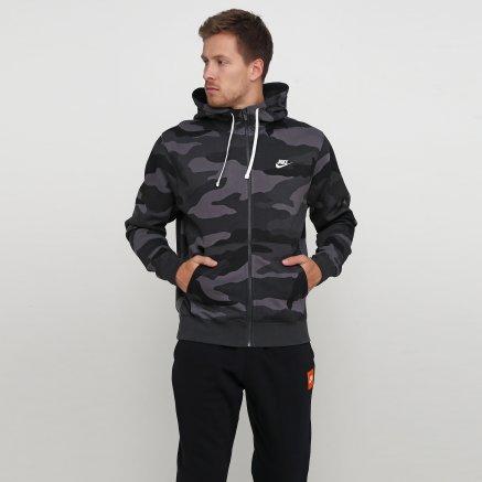 Кофта Nike M Nsw Club Hoodie Fz Bb Camo - 121083, фото 1 - інтернет-магазин MEGASPORT