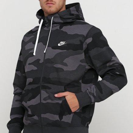 Кофта Nike M Nsw Club Hoodie Fz Bb Camo - 121083, фото 4 - інтернет-магазин MEGASPORT