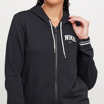 Кофта Nike W Nsw Hoodie Fz Flc Vrsty - 119310, фото 4 - интернет-магазин MEGASPORT
