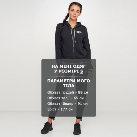 Кофта Nike W Nsw Hoodie Fz Flc Vrsty - 119310, фото 6 - интернет-магазин MEGASPORT