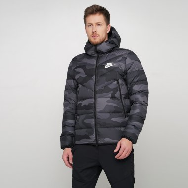 Пуховики nike M Nsw Dwn Fill Wr Jkt Hd Aop - 121153, фото 1 - интернет-магазин MEGASPORT