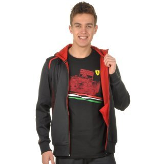 Кофта Puma Ferrari Hooded Sweat Jacket - фото 5