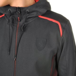 Кофта Puma Ferrari Hooded Sweat Jacket - фото 6